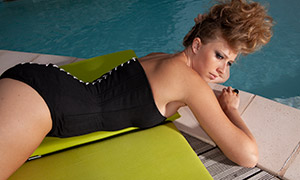 泳装美女人物性感写真摄影原片素材
