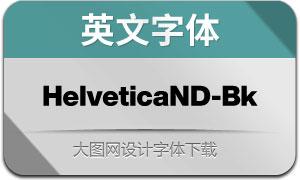 HelveticaNowDisp-Bk(英文字体)