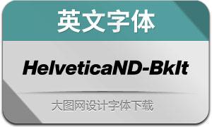 HelveticaNowDisp-BkIt(英文字体)
