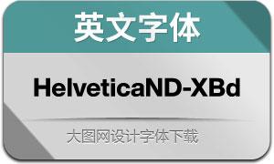 HelveticaNowDisp-XBd(英文字体)