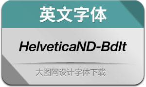 HelveticaNowDisp-BdIt(英文字体)