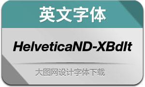 HelveticaNowDisp-XBdIt(英文字体)