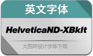 HelveticaNowDisp-XBkIt(英文字体)