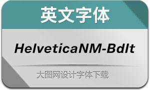 HelveticaNowM-BdIt(英文字体)