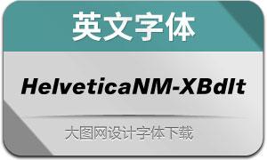 HelveticaNowM-XBdIt(英文字体)