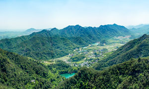 大慈岩山顶全景图高清摄影图片