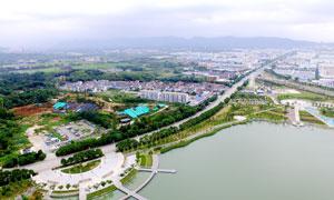 宁波奉化开发区美丽航拍图摄影图片