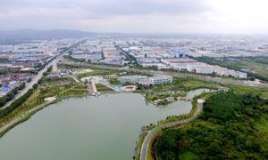 奉化仁湖公园航拍图高清摄影图片下载