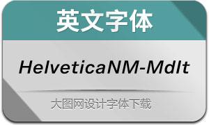 HelveticaNowM-MdIt(英文字体)