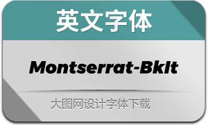 Montserrat-BlackItalic(英文字体)