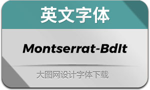 Montserrat-BoldItalic(英文字体)