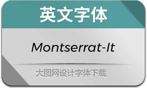Montserrat-Italic(英文字体)