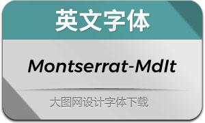 Montserrat-MediumIt(英文字体)