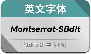 Montserrat-SemiBoldIt(英文字体)