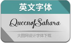QueenofSahara(英文字体)