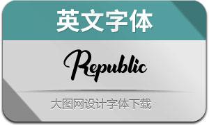 Republic(英文字体)