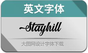 Stayhill(英文字体)