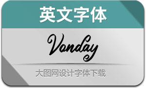 Vonday(英文字体)