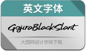 GojiraBlackSlant(英文字体)