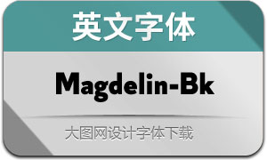 Magdelin-Black(英文字体)