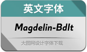 Magdelin-BoldItalic(英文字体)