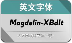 Magdelin-ExtraBoldItalic(英文字体)