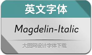 Magdelin-Italic(英文字体)