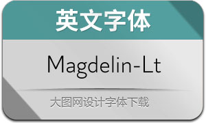 Magdelin-Light(英文字体)