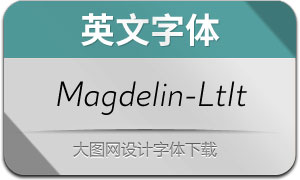 Magdelin-LightItalic(英文字体)