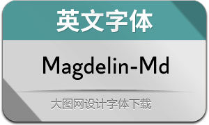 Magdelin-Medium(英文字体)