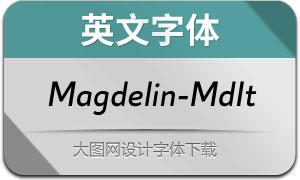 Magdelin-MediumItalic(英文字体)