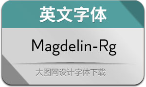Magdelin-Regular(英文字体)