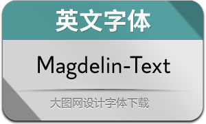 Magdelin-Text(英文字体)