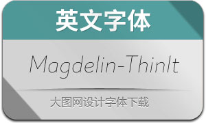 Magdelin-ThinItalic(英文字体)