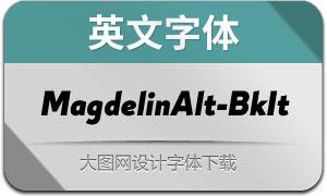 MagdelinAlt-BlackIt(英文字体)