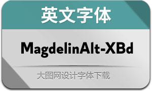 MagdelinAlt-ExtraBold(英文字体)