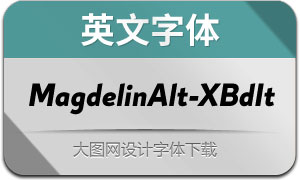 MagdelinAlt-ExtraBoldIt(英文字体)