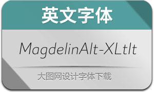 MagdelinAlt-ExtraLightIt(英文字体)