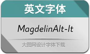 MagdelinAlt-Italic(英文字体)