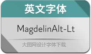 MagdelinAlt-Light(英文字体)