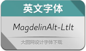 MagdelinAlt-LightItalic(英文字体)