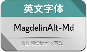 MagdelinAlt-Medium(英文字体)