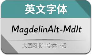 MagdelinAlt-MediumIt(英文字体)