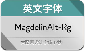 MagdelinAlt-Regular(英文字体)