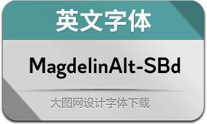 MagdelinAlt-SemiBold(英文字体)