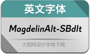 MagdelinAlt-SemiBoldIt(英文字体)