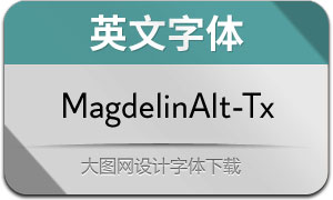 MagdelinAlt-Text(英文字体)