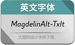 MagdelinAlt-TextItalic(英文字体)