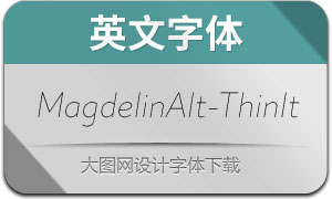 MagdelinAlt-ThinItalic(英文字体)