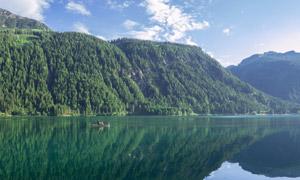 蓝天白云青山绿水风光摄影高清图片